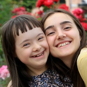 Woman with Down Syndrome Girl