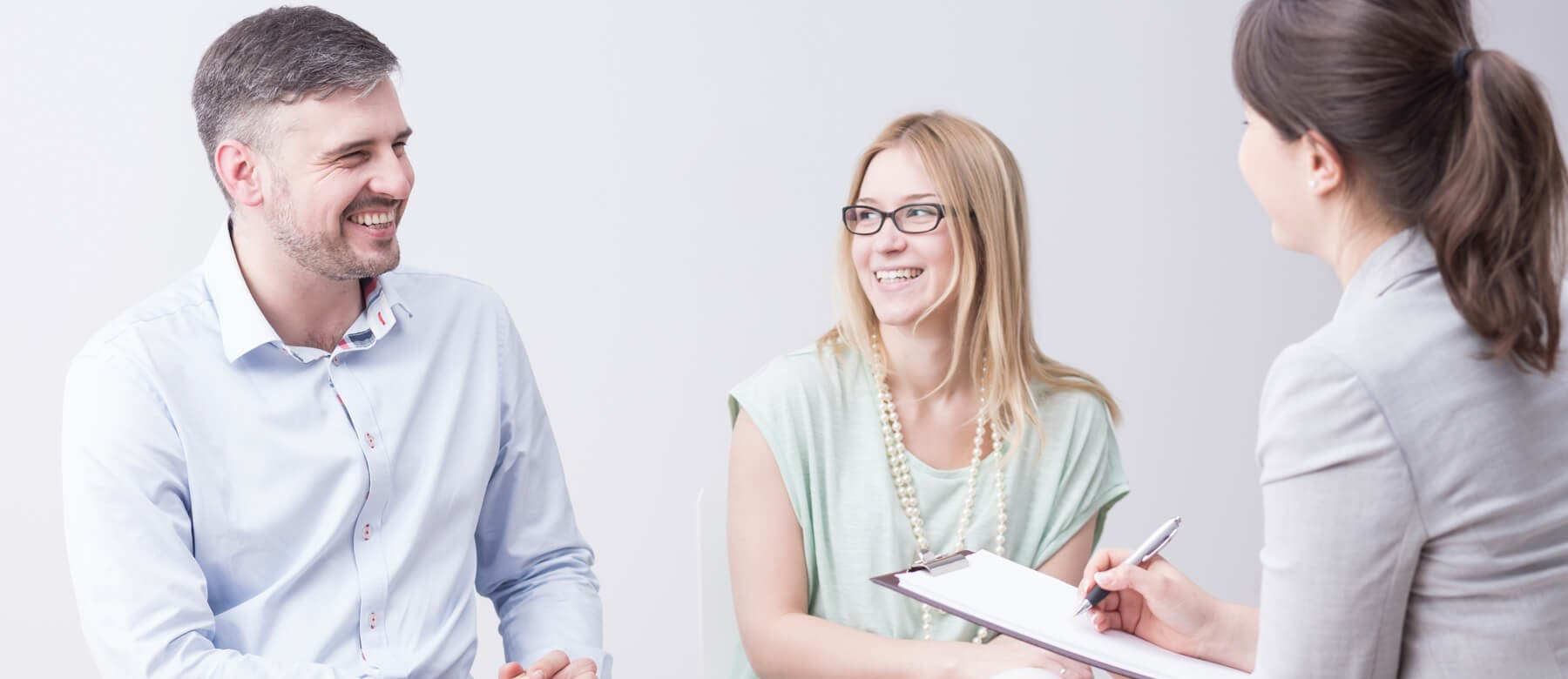 Smiling Couple in Counselling